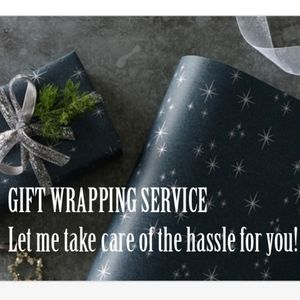 Gift wrapping service for purchased item